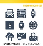 simple set of  9 filled icons... | Shutterstock .eps vector #1194169966