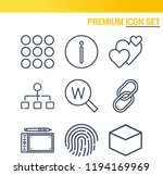 simple set of  9 outline icons... | Shutterstock .eps vector #1194169969