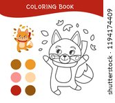 coloring book for children.... | Shutterstock .eps vector #1194174409