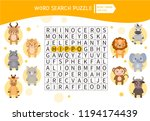 educational game for kids. word ... | Shutterstock .eps vector #1194174439