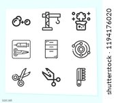 simple set of 9 icons related... | Shutterstock .eps vector #1194176020