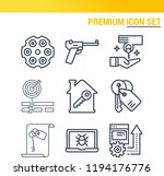 simple set of  9 outline icons... | Shutterstock .eps vector #1194176776