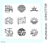 simple set of 9 icons related... | Shutterstock .eps vector #1194177739