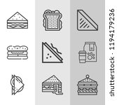 simple collection of bread... | Shutterstock .eps vector #1194179236