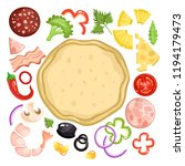 a collection of ingredients for ...   Shutterstock .eps vector #1194179473