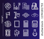 simple set of 16 icons related... | Shutterstock .eps vector #1194181753