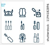 simple set of  9 outline icons... | Shutterstock .eps vector #1194182896