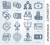 simple set of 16 icons related...   Shutterstock .eps vector #1194185719