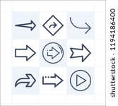 simple set of 9 icons related... | Shutterstock .eps vector #1194186400