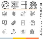 simple collection of business... | Shutterstock .eps vector #1194187120