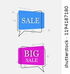 trendy banner flat design set... | Shutterstock .eps vector #1194187180