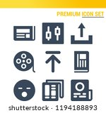 simple set of  9 filled icons... | Shutterstock .eps vector #1194188893