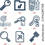 simple set of  9 outline icons... | Shutterstock .eps vector #1194189709