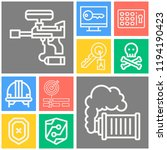 simple set of  10 outline icons ... | Shutterstock .eps vector #1194190423