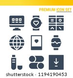 simple set of  9 filled icons... | Shutterstock .eps vector #1194190453