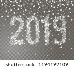 glittering 2019 new year from... | Shutterstock .eps vector #1194192109
