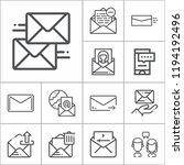 simple collection of message... | Shutterstock .eps vector #1194192496
