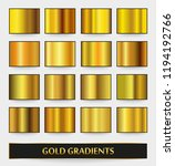 vector set of metallic... | Shutterstock .eps vector #1194192766