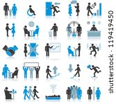 businessman icons. vector... | Shutterstock .eps vector #119419450