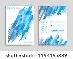 abstract brochure design.vector ... | Shutterstock .eps vector #1194195889