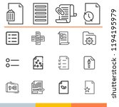 simple collection of document... | Shutterstock .eps vector #1194195979