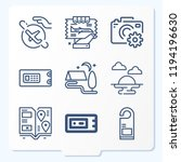 simple set of 9 icons related... | Shutterstock .eps vector #1194196630