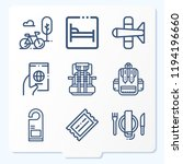 simple set of 9 icons related... | Shutterstock .eps vector #1194196660