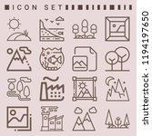 simple set of  16 outline icons ... | Shutterstock .eps vector #1194197650