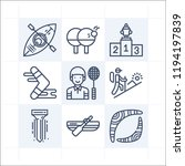 simple set of 9 icons related... | Shutterstock .eps vector #1194197839