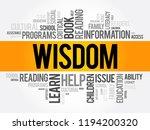 wisdom word cloud collage ... | Shutterstock .eps vector #1194200320