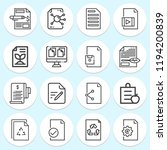 simple collection of document... | Shutterstock . vector #1194200839