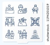 simple set of 9 icons related... | Shutterstock .eps vector #1194201019