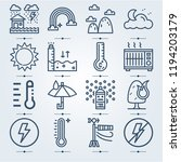 simple set of 16 icons related... | Shutterstock .eps vector #1194203179