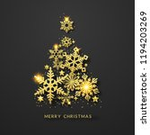christmas tree background with... | Shutterstock .eps vector #1194203269