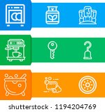simple set of  9 outline icons...   Shutterstock . vector #1194204769