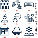 simple set of  9 outline icons...   Shutterstock .eps vector #1194211759