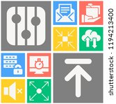 simple set of  10 filled icons... | Shutterstock .eps vector #1194213400
