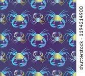 elegant fairy crab multicolor... | Shutterstock .eps vector #1194214900