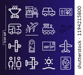 simple set of 16 icons related... | Shutterstock .eps vector #1194215800