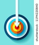 volume target icon in flat... | Shutterstock .eps vector #1194220840