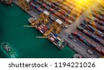 logistics and transportation of ... | Shutterstock . vector #1194221026