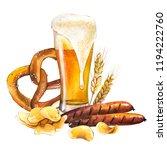 oktoberfest. watercolor... | Shutterstock . vector #1194222760