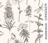 vector hand drawn meadow... | Shutterstock .eps vector #1194223279
