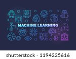 machine learning colored... | Shutterstock .eps vector #1194225616