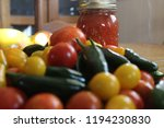 glass jar with homemade canned...   Shutterstock . vector #1194230830