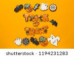halloween concept with cookies | Shutterstock . vector #1194231283