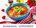 minestrone  italian vegetable... | Shutterstock . vector #1194233023