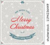 christmas background. christmas ... | Shutterstock .eps vector #1194236449