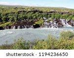 view of hraunfossar series of... | Shutterstock . vector #1194236650