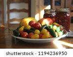 fresh garden tomatoes and...   Shutterstock . vector #1194236950